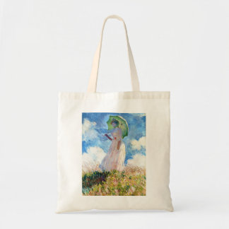 Woman with a Parasol  Claude Monet Budget Tote Bag
