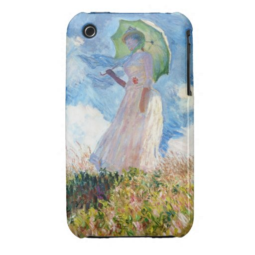 Woman with a Parasol  Claude Monet iPhone 3 Case