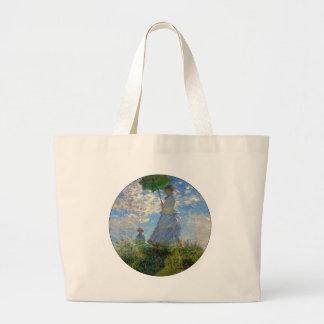 Woman with a Parasol Claude Monet Impressionist Canvas Bag