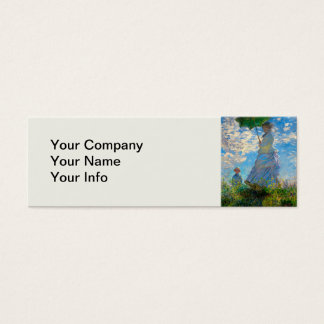 Woman with a Parasol Claude Monet Impressionist Mini Business Card