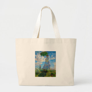 Woman with a Parasol Claude Monet Impressionist Bags