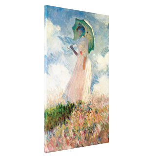 Woman with a Parasol, facing left 1886 Canvas Print