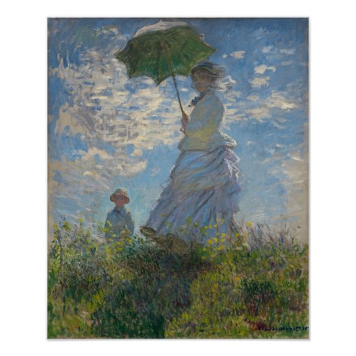 Woman with a Parasol - Madame Monet and Her Son Posters