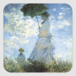 Woman with a Parasol Square Sticker