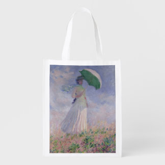 Woman with a Parasol turned to the Right, 1886 Grocery Bags