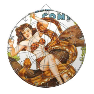 Woman with a Snake Dartboard