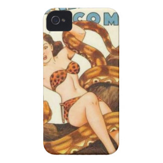 Woman with a Snake iPhone 4 Case-Mate Cases