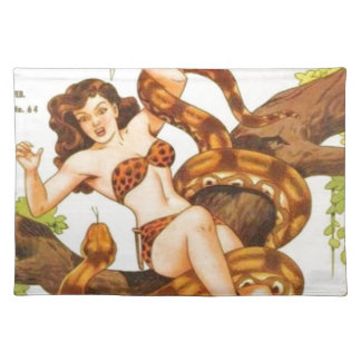 Woman with a Snake Placemat