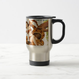 Woman with a Snake Travel Mug