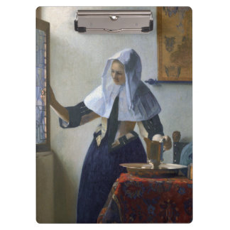 Woman with a Water Jug by Johannes Vermeer Clipboards