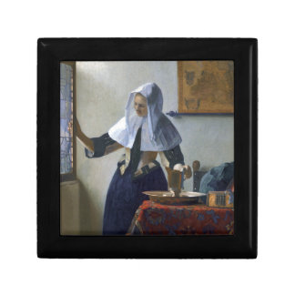 Woman with a Water Jug by Johannes Vermeer Gift Box