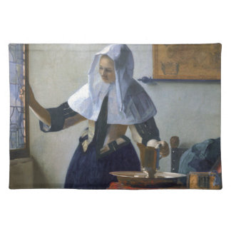Woman with a Water Jug by Johannes Vermeer Place Mats