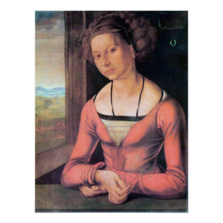 Woman with braided hair by Albrecht Durer Poster