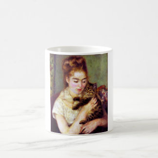 Woman with Cat, Auguste Renoir Coffee Mug