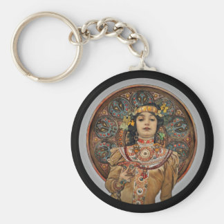 Woman with Champagne Glass Key Ring