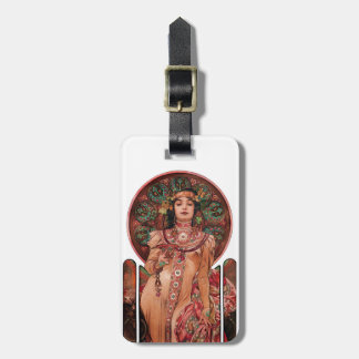 Woman with Champagne Glass Luggage Tag