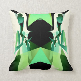 woman with diamonds cushion
