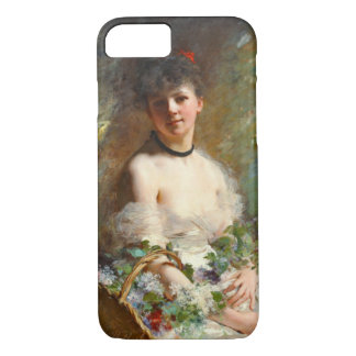 Woman with Flower Basket 1850 iPhone 7 Case