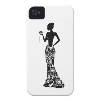 Woman with Flower iPhone 4 Covers