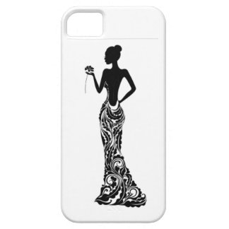 Woman with Flower iPhone 5 Cases