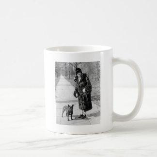 Woman with French Bulldog, 1920s Mug
