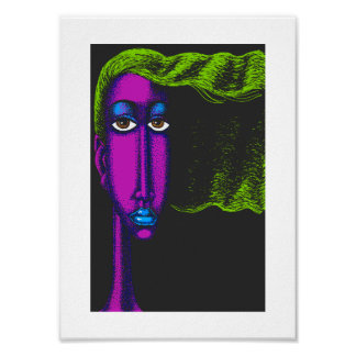 Woman with Green Hair Poster