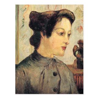 Woman with hair knots - Paul Gauguin Postcard