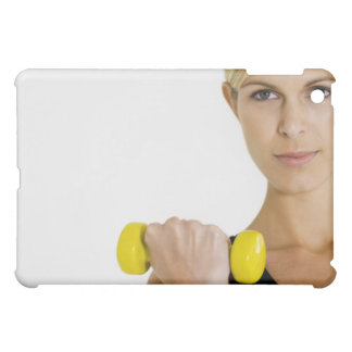 Woman with hand weight iPad mini case