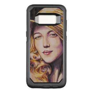 Woman with hat OtterBox commuter samsung galaxy s8 case