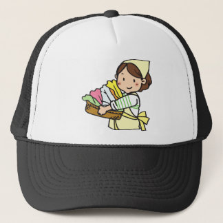 Woman with Laundry Basket Trucker Hat