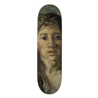 Woman with Loose Hair by Vincent Van Gogh Skateboard Deck