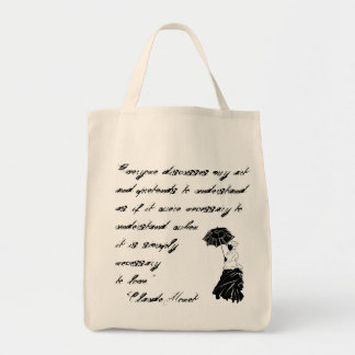 Woman with Parasol Bag (with quote)