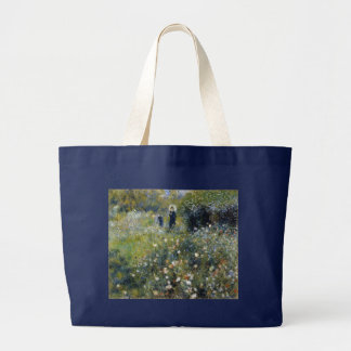 Woman with Parasol in a Garden by Renoir Large Tote Bag