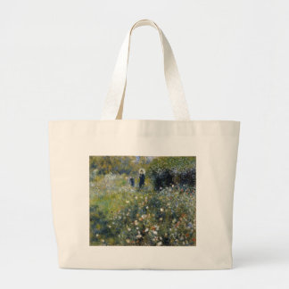 Woman with Parasol in a Garden Jumbo Tote Bag