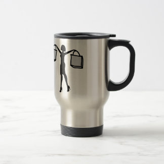 Woman with Shopping Bags. Stainless Steel Travel Mug