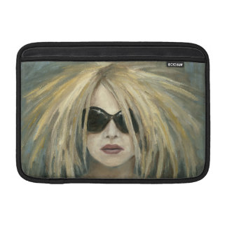Woman with Sunglasses Big Hair Oil Painting MacBook Air Sleeves