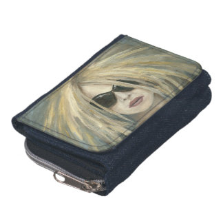 Woman with Sunglasses & Big Hair Oil Painting Wallet