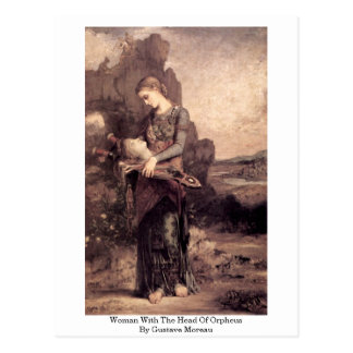 Woman With The Head Of Orpheus By Gustave Moreau Postcard