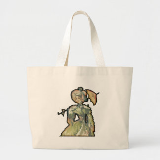 Woman With Umbrella Jumbo Tote Bag