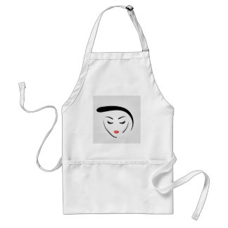 woman with vintage hairstyle and make up standard apron