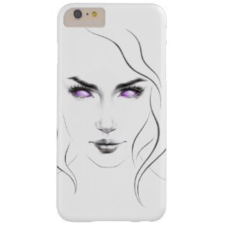 Woman with violet eyes minimal art iPhone 6+ case Barely There iPhone 6 Plus Case