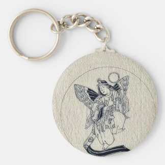 Woman with wings-religious figure keychain
