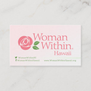 Hawaii business cards zazzle au woman within hawaii business cards reheart Gallery