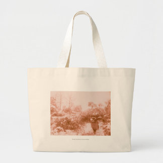 Woman Wood Gatherer Large Tote Bag