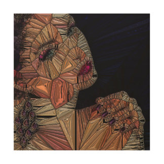 Woman Wood Print