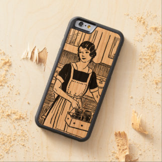 Woman Working in the Kitchen iPhone case