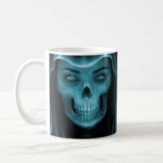 Woman X-Ray Skull Coffee Mug