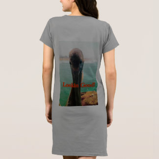 Woman's American Apparel T-shirt dress Pelican