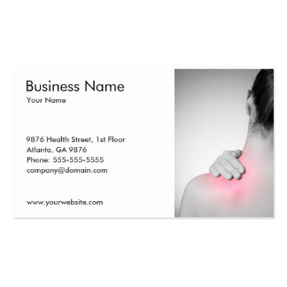 Woman's Back Business Card Template