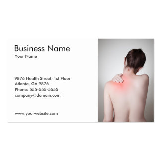 Woman's Back Business Card Template Business Card Template